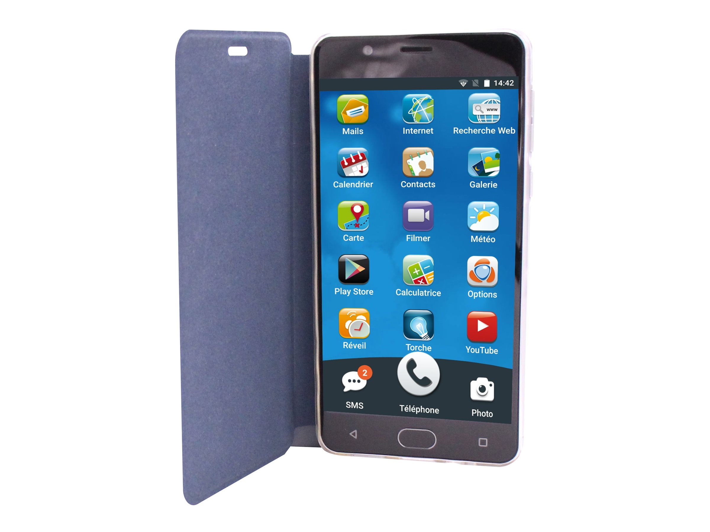 Ordissimo Flip-Hülle für Mobiltelefon - Echt Leder