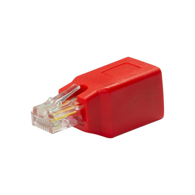 Vorschau: LogiLink NP0059 - RJ-45 - RJ-45 - Männlich/Weiblich - Rot