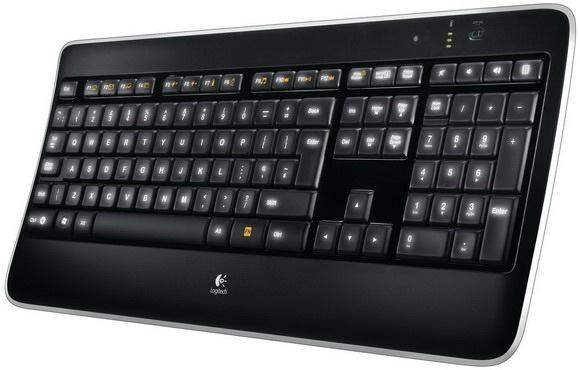 Logitech Wireless Illuminated Keyboard K800 - Tastatur - drahtlos