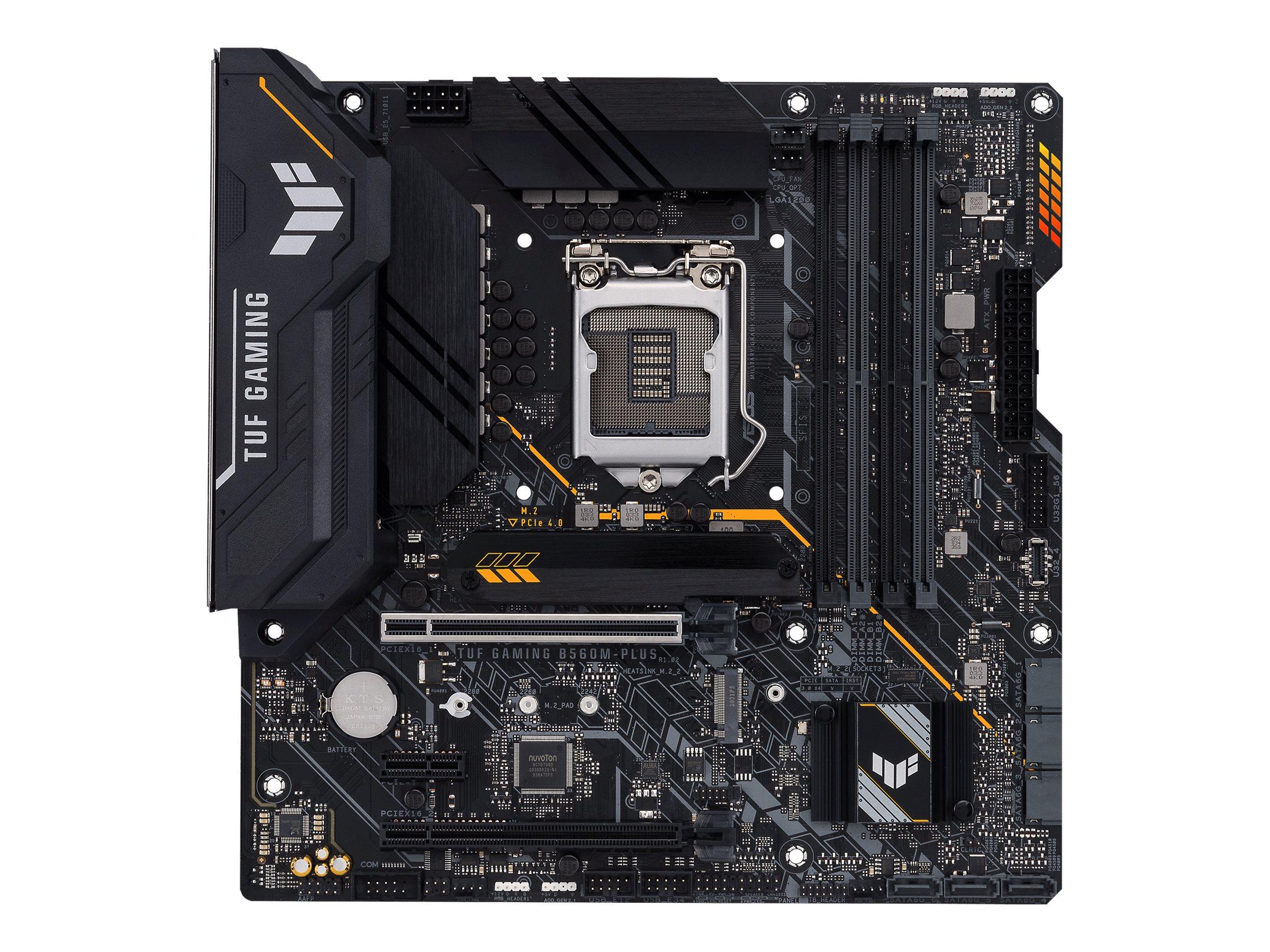 Vorschau: ASUS TUF GAMING B560M-PLUS - Motherboard - ATX - LGA1200-Sockel - B560 - USB-C Gen1, USB 3.2 Gen 1, USB 3.2 Gen 2 - 2.5 Gigabit LAN - Onboard-Grafik (CPU erforderlich)