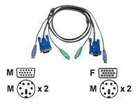 ATEN 2L-5003P/C - Tastatur- / Video- / Maus- (KVM-)