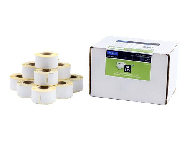 Dymo LabelWriter Address - Permanenter Klebstoff - weiß - 28 x 89 mm 3120 Etikett(en) (24 Rolle(n)