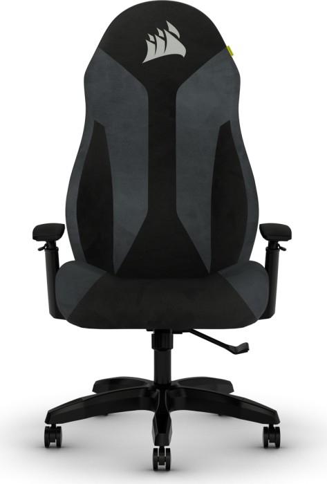 Corsair TC60 - Gaming-Sessel - Gepolsterter Sitz - Gepolsterte Rückenlehne - PC - Schwarz - Schwarz - Grau