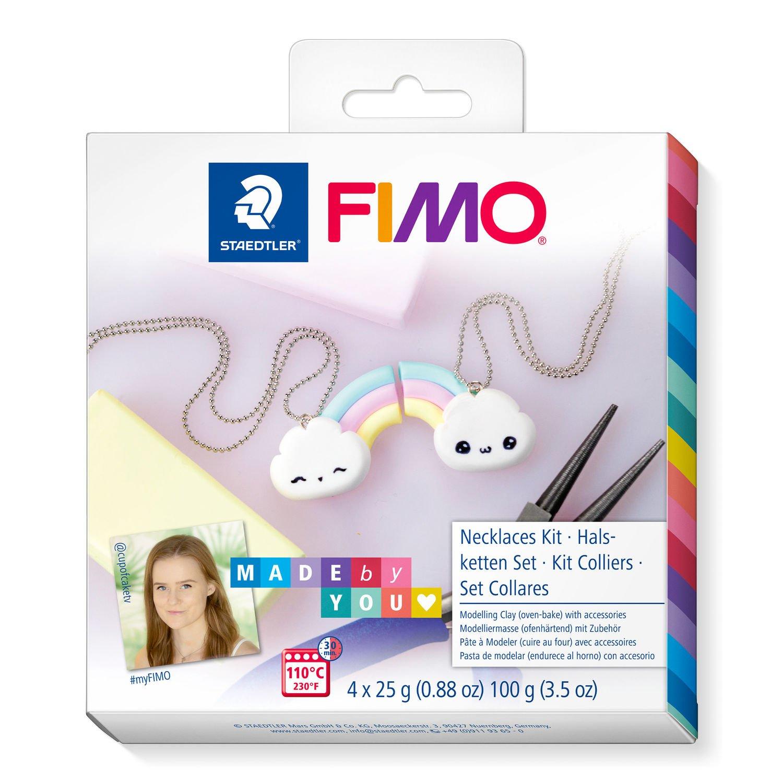 Vorschau: STAEDTLER FIMO 8025 DIY - Knetmasse - Mintfarbe - Pink - Vanillefarbe - Weiß - Erwachsene - 4 Stück(e) - 4 Farben - 110 °C