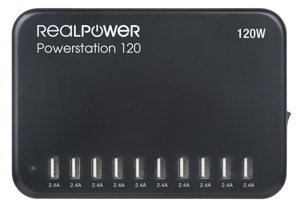 RealPower Power Station 120W 10 USB-Ports