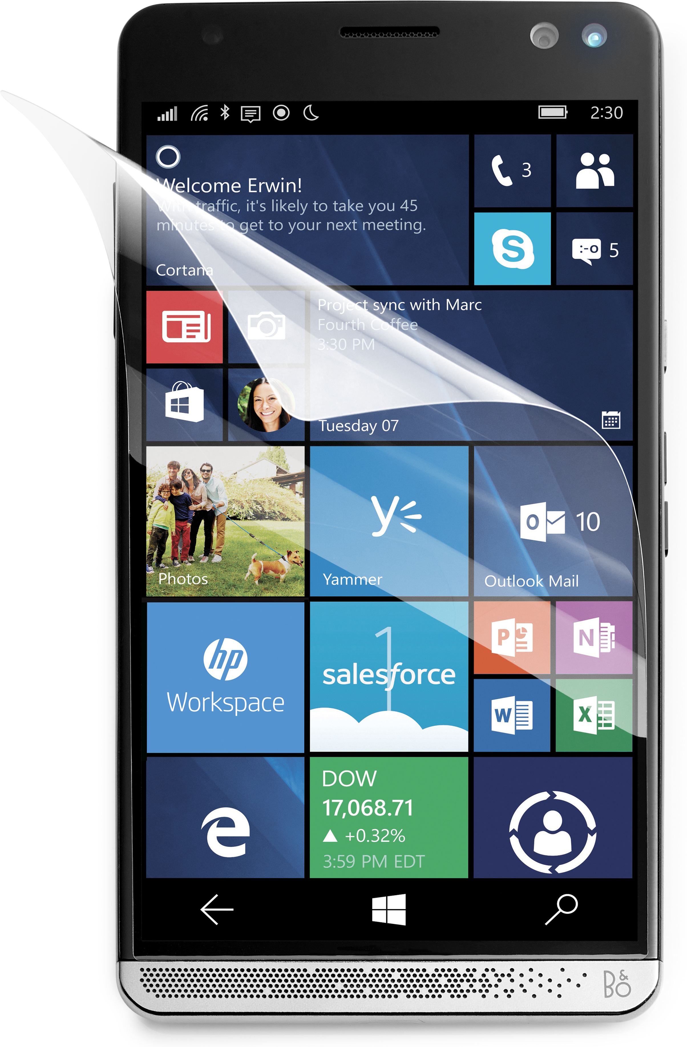 HP Elite x3 Anti-Fingerprint - Bildschirmschutz - für Elite x3