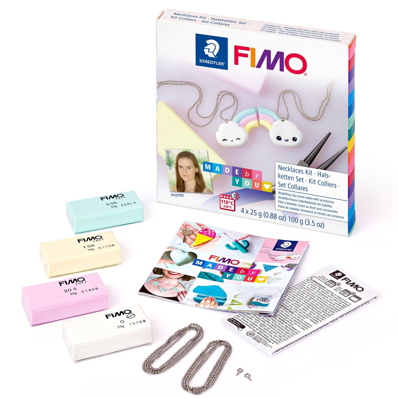 STAEDTLER FIMO 8025 DIY - Knetmasse - Mintfarbe - Pink - Vanillefarbe - Weiß - Erwachsene - 4 Stück(e) - 4 Farben - 110 °C