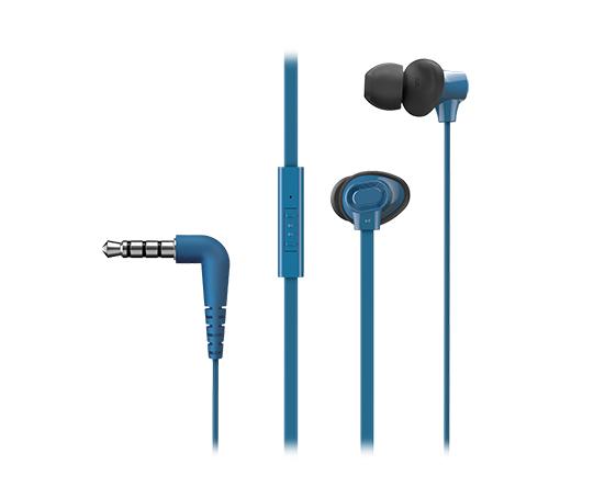 Panasonic RP-TCM130E-A - Verkabelt - im Ohr - Binaural - Im Ohr - 20 - 20000 Hz - Blau