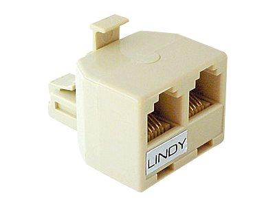 Lindy Netzwerk-Splitter - RJ-11 (M) bis RJ-11 (W)
