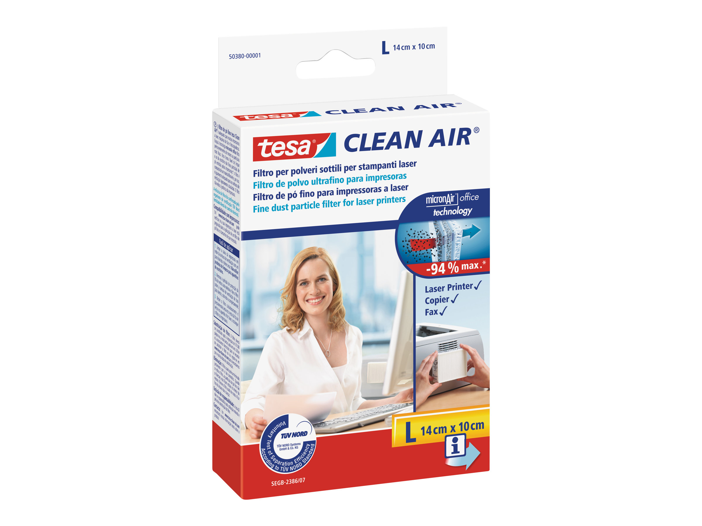Tesa Clean Air L - Feinstaubfilter für Drucker