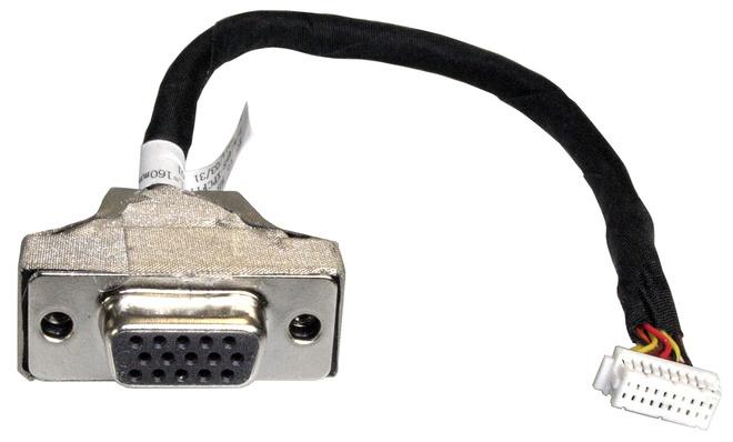 Shuttle PVG01 15-pin Mini D-Sub 2 x 10-pin Schwarz - Edelstahl - Weiß Kabelschnittstellen-/adapter