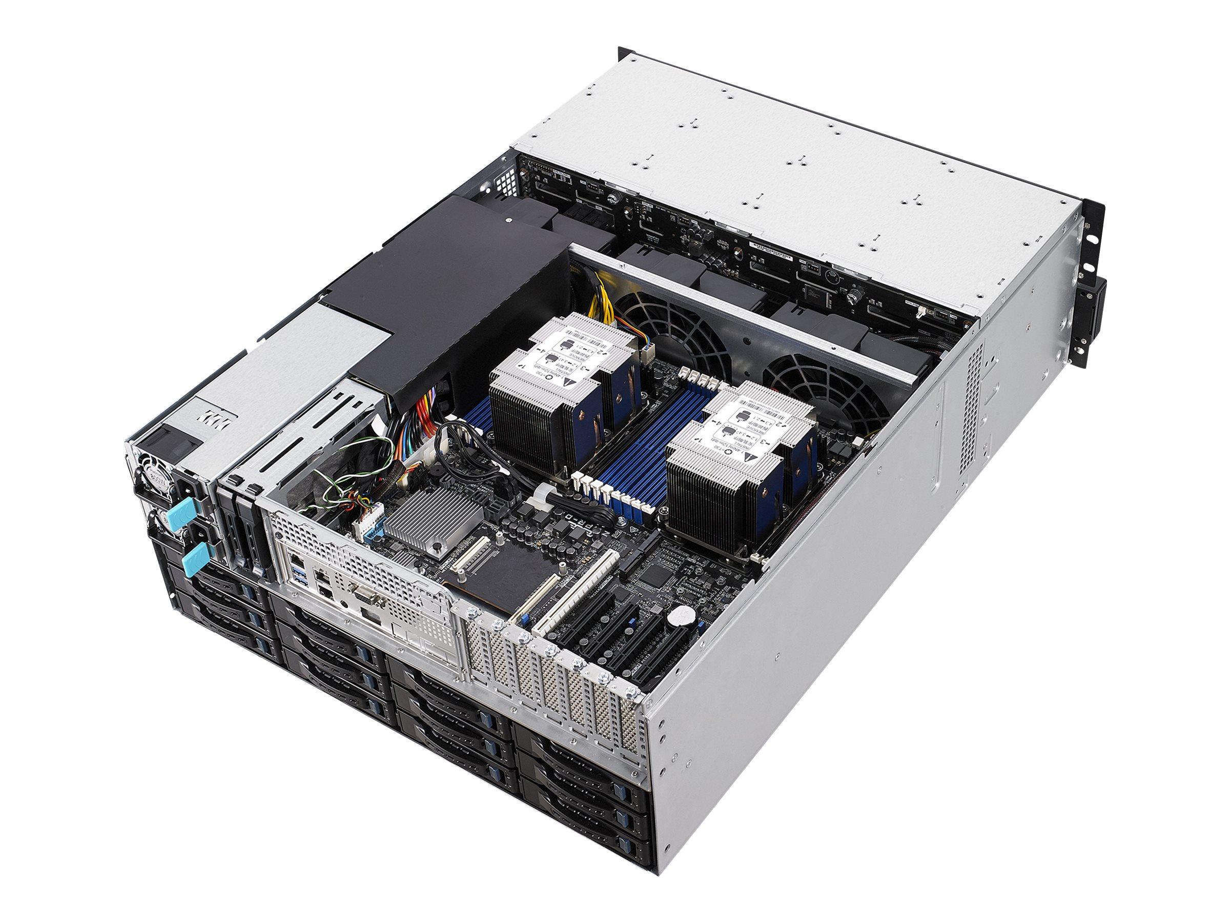 """ASUS RS540-E9-RS36-E - Server - Rack-Montage - 4U - zweiweg - keine CPU - RAM 0 GB - SAS - Hot-Swap 6.4 cm, 8.9 cm (2.5"""", 3.5"""")"""
