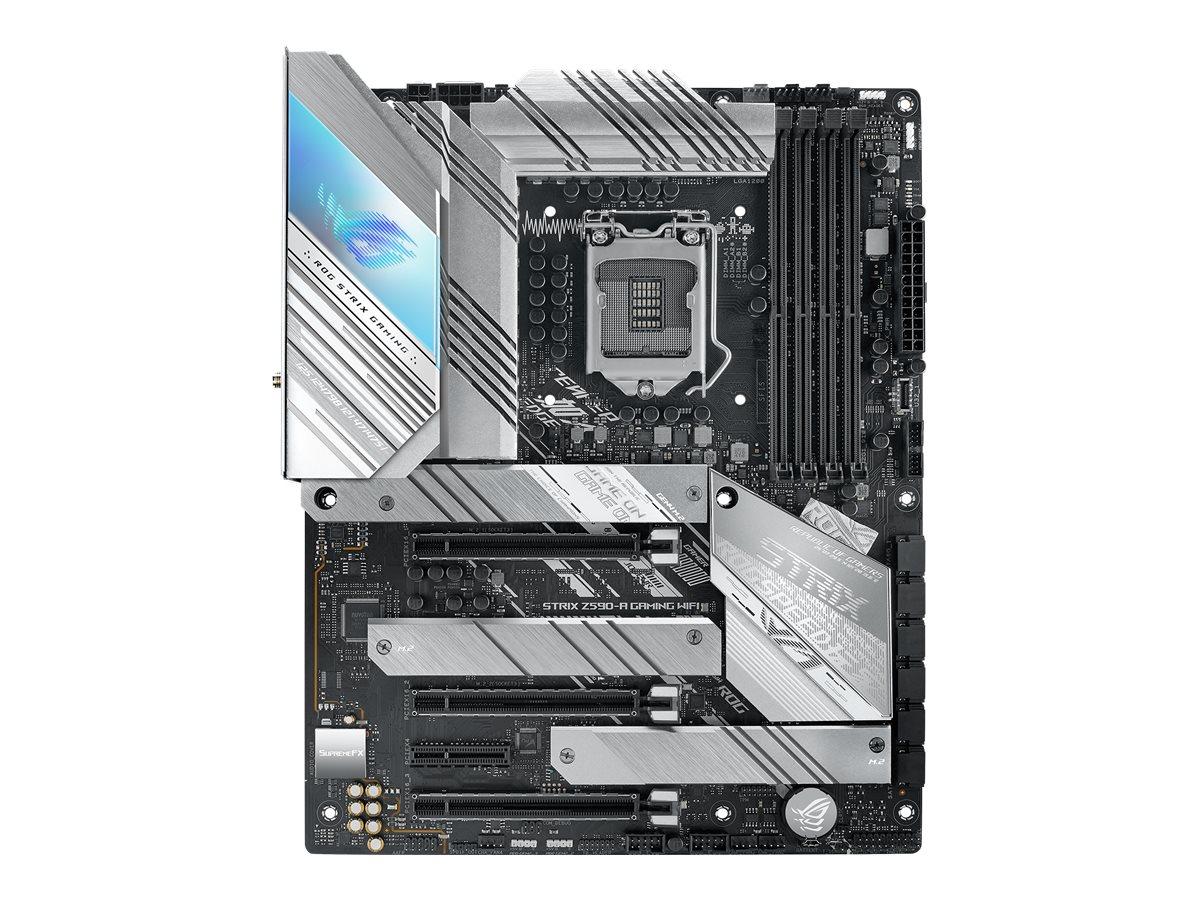 ASUS ROG STRIX Z590-A GAMING WIFI - Motherboard - ATX - LGA1200-Sockel - Z590 - USB-C Gen1, USB 3.2 Gen 1, USB 3.2 Gen 2, USB-C Gen 2x2 - 2.5 Gigabit LAN, Wi-Fi - Onboard-Grafik (CPU erforderlich)