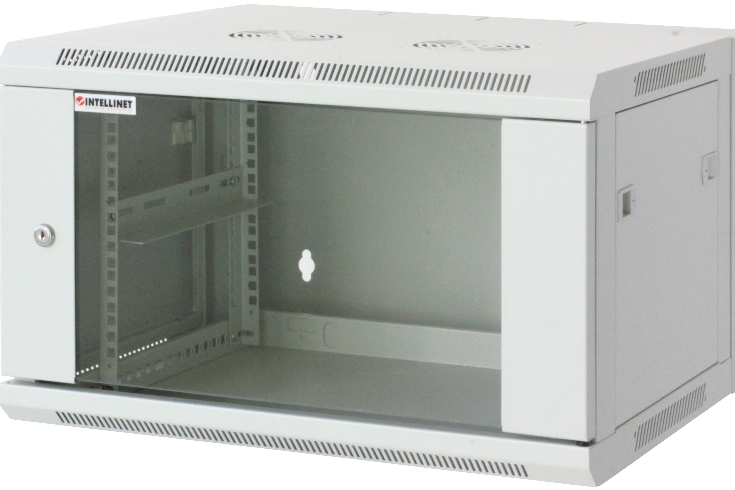 Intellinet 711920 - 12U - Wandmontiertes Regal - 60 kg - Grau - SPCC - Geschlossen