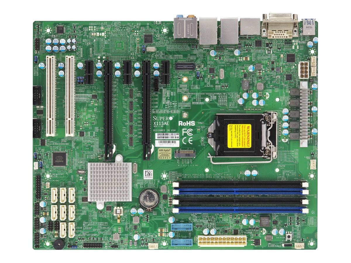 Supermicro X11SAE - Motherboard - ATX - LGA1151 Socket - C236 - USB 3.0, USB 3.1 - 2 x Gigabit LAN - Onboard-Grafik (CPU erforderlich)