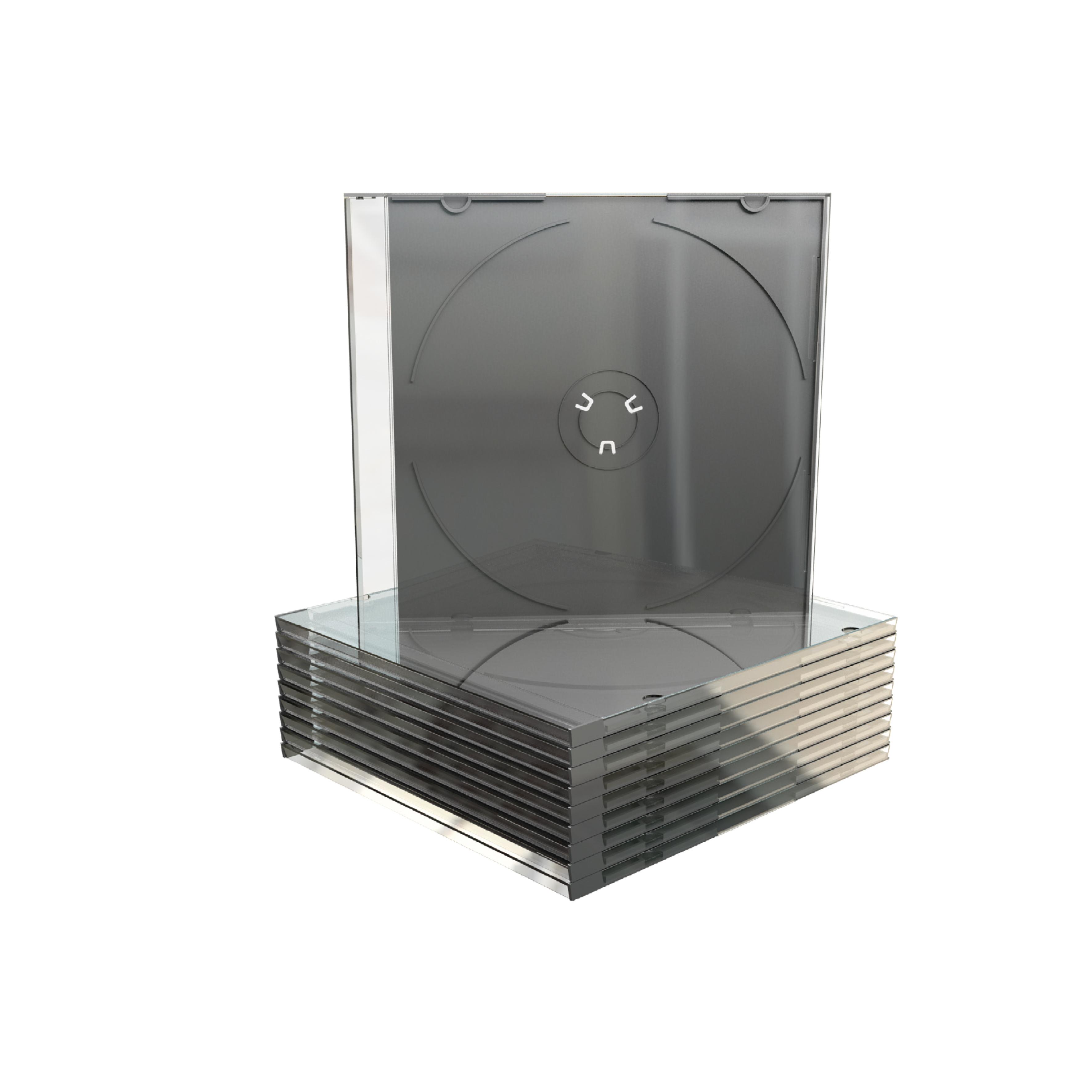 MEDIARANGE BOX21-M - Schmuckschatulle - 1 Disks - Schwarz - Transparent - Kunststoff - 120 mm - 140 mm