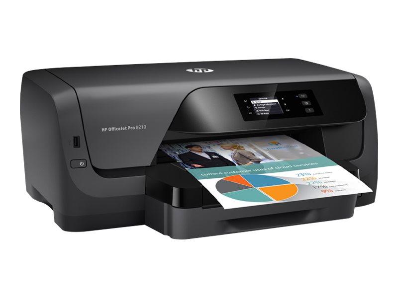 HP Officejet Pro 8210 - Drucker - Farbe - Duplex - Tintenstrahl - A4 - 1200 x 1200 dpi - bis zu 22 Seiten/Min. (einfarbig)/