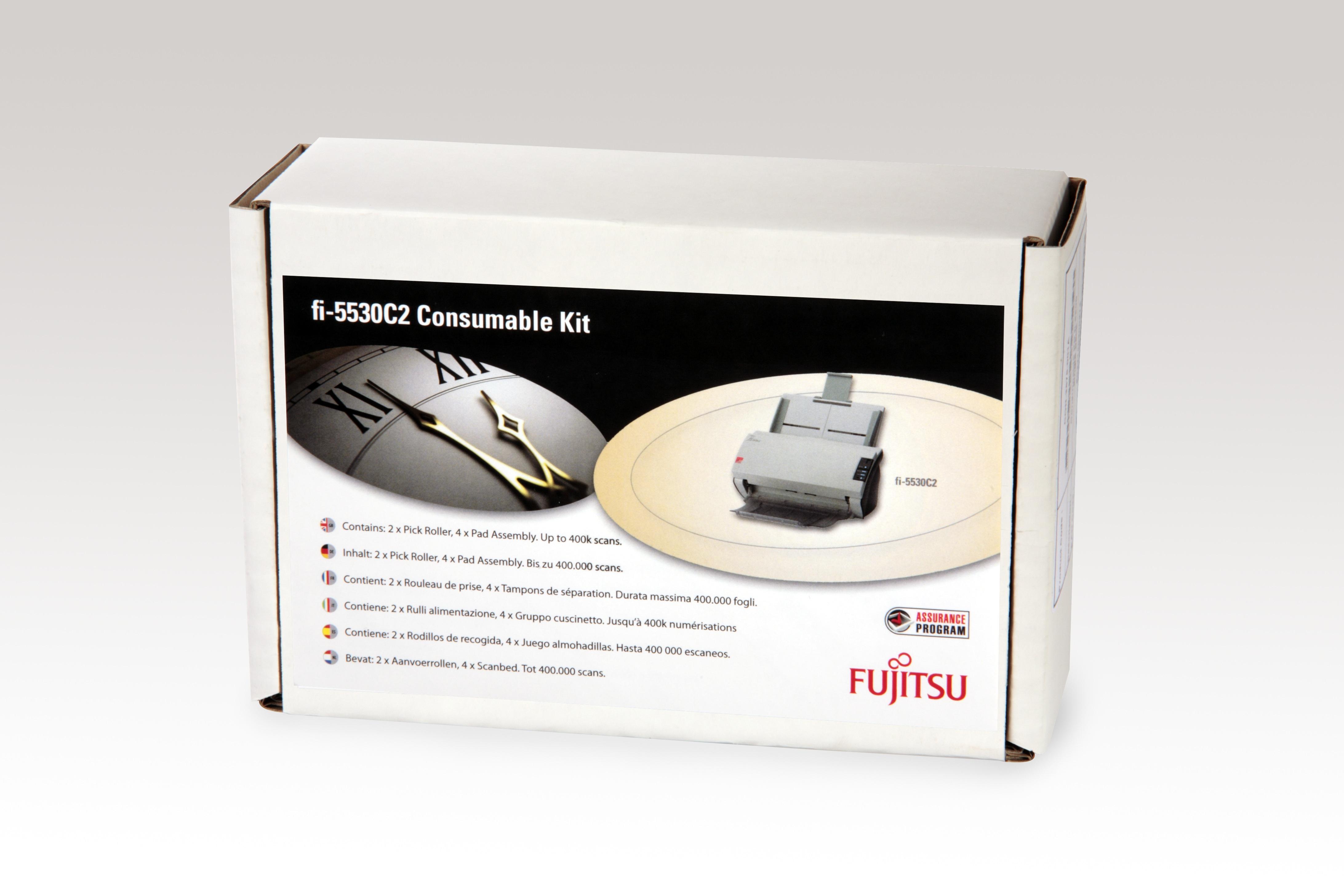 Fujitsu CON-3334-004A Scanner Verbrauchsmaterialienset Drucker-/Scanner-Ersatzteile