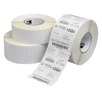 Zebra Z-Perform 1000D - Papier - permanenter Acrylklebstoff - unbeschichtet - hochweiß - 38.1 x 38.1 mm 5400 Etikett(en) (20 Rolle(n)
