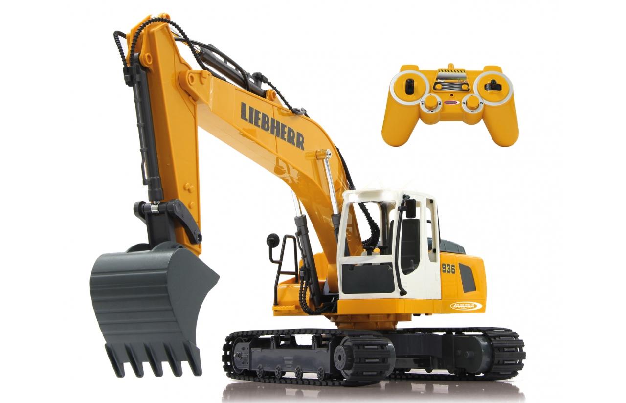 JAMARA Excavadora Liebherr R936 - Bagger - 1:20 - Junge - 1,22 kg