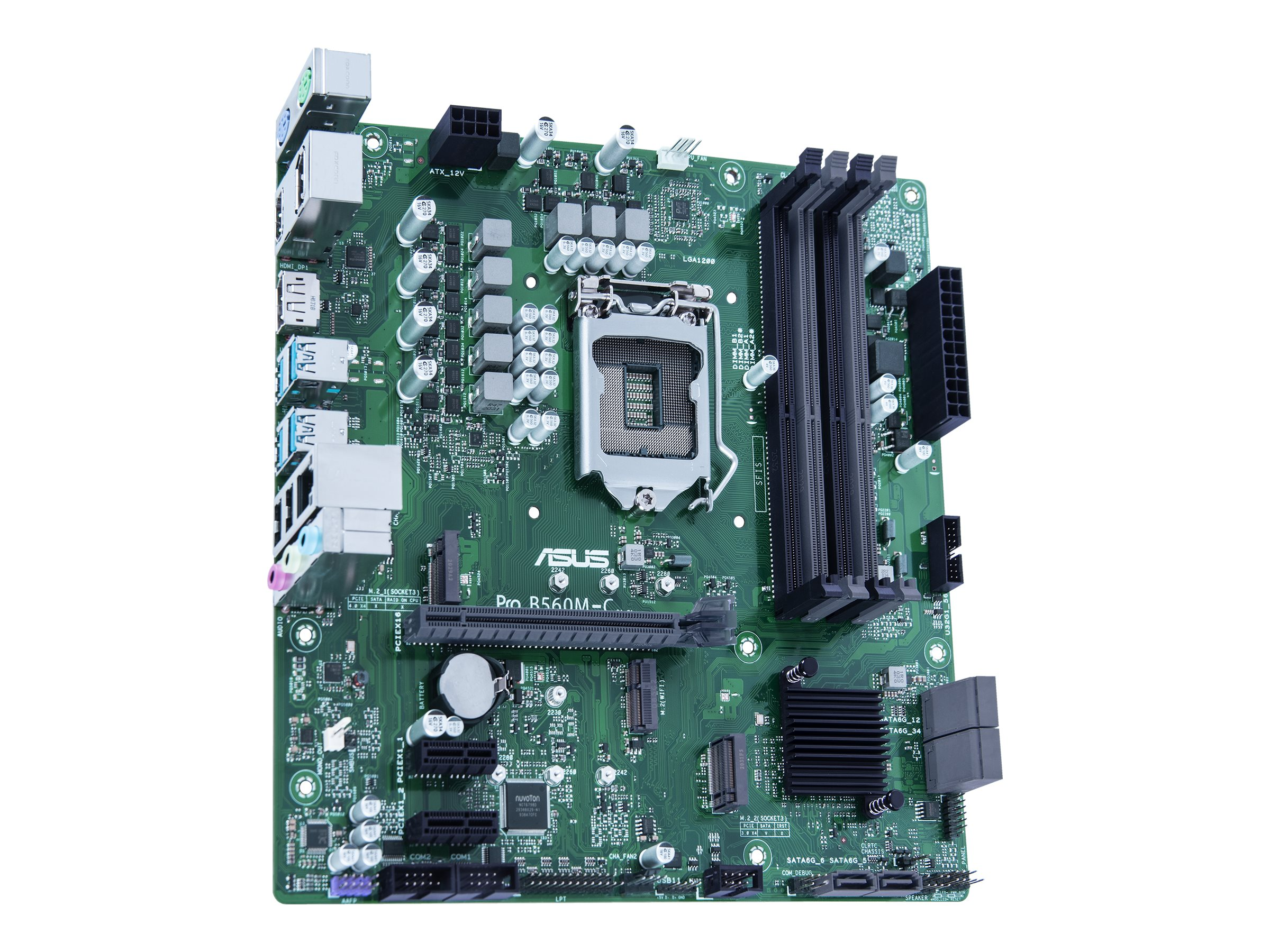ASUS Pro B560M-C/CSM - Motherboard - micro ATX - LGA1200-Sockel - B560 - USB 3.2 Gen 1 - Gigabit LAN - Onboard-Grafik (CPU erforderlich)