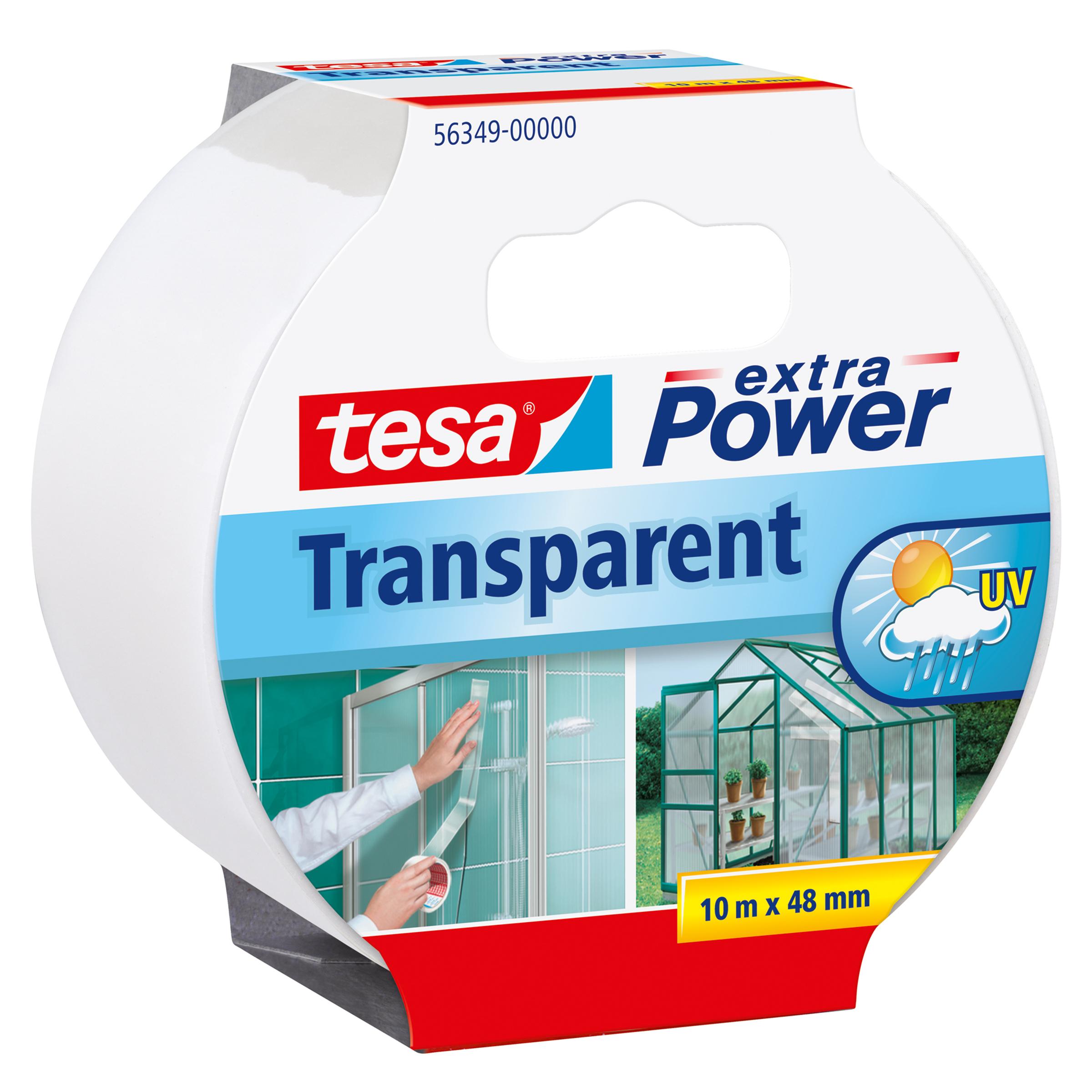 Tesa extra Power Transparant - 10 m - Transparent - Glas - Kunststoff - Stark - 48 mm - 1 Stück(e)