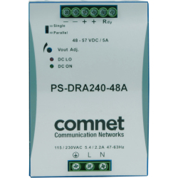 ComNet PS-DRA240-48A - 240 W - 90 - 375 V - 47 - 63 Hz - 4 A - 30 ms - 90%