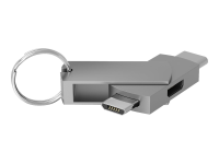 272989 - USB Type-C - 2 x Micro-USB - Male connector / Female connector - Silber