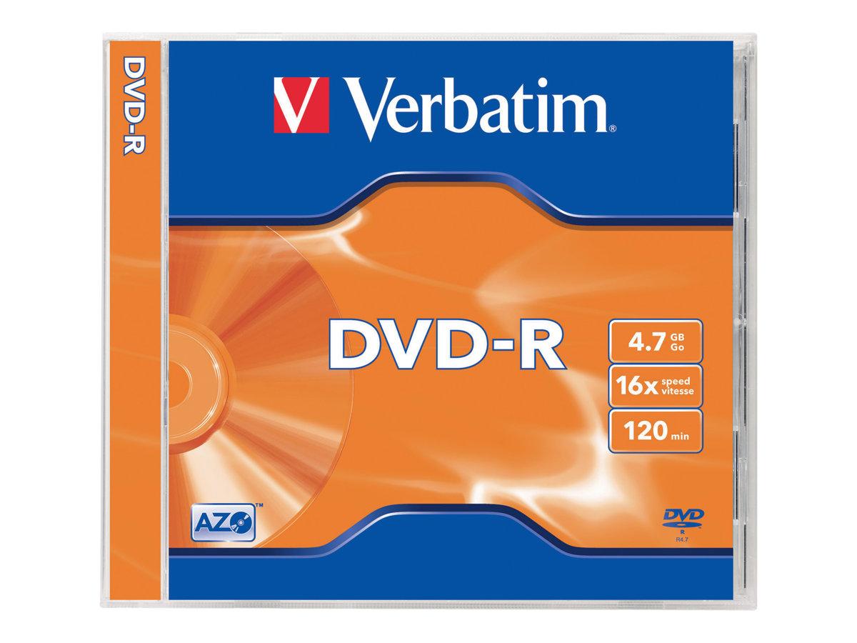 Verbatim 5 x DVD-R - 4.7 GB 16x - mattsilber - Jewel Case (Schachtel)