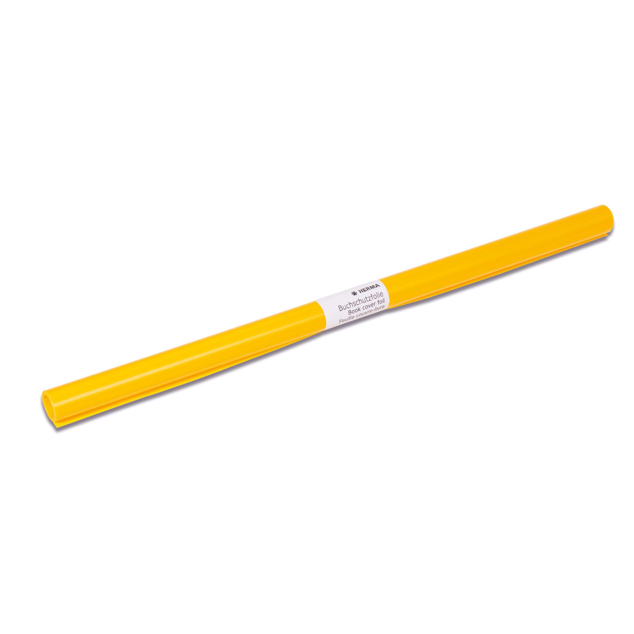 HERMA 7361 - Buchschutzfolie - gelb - 10 Stück