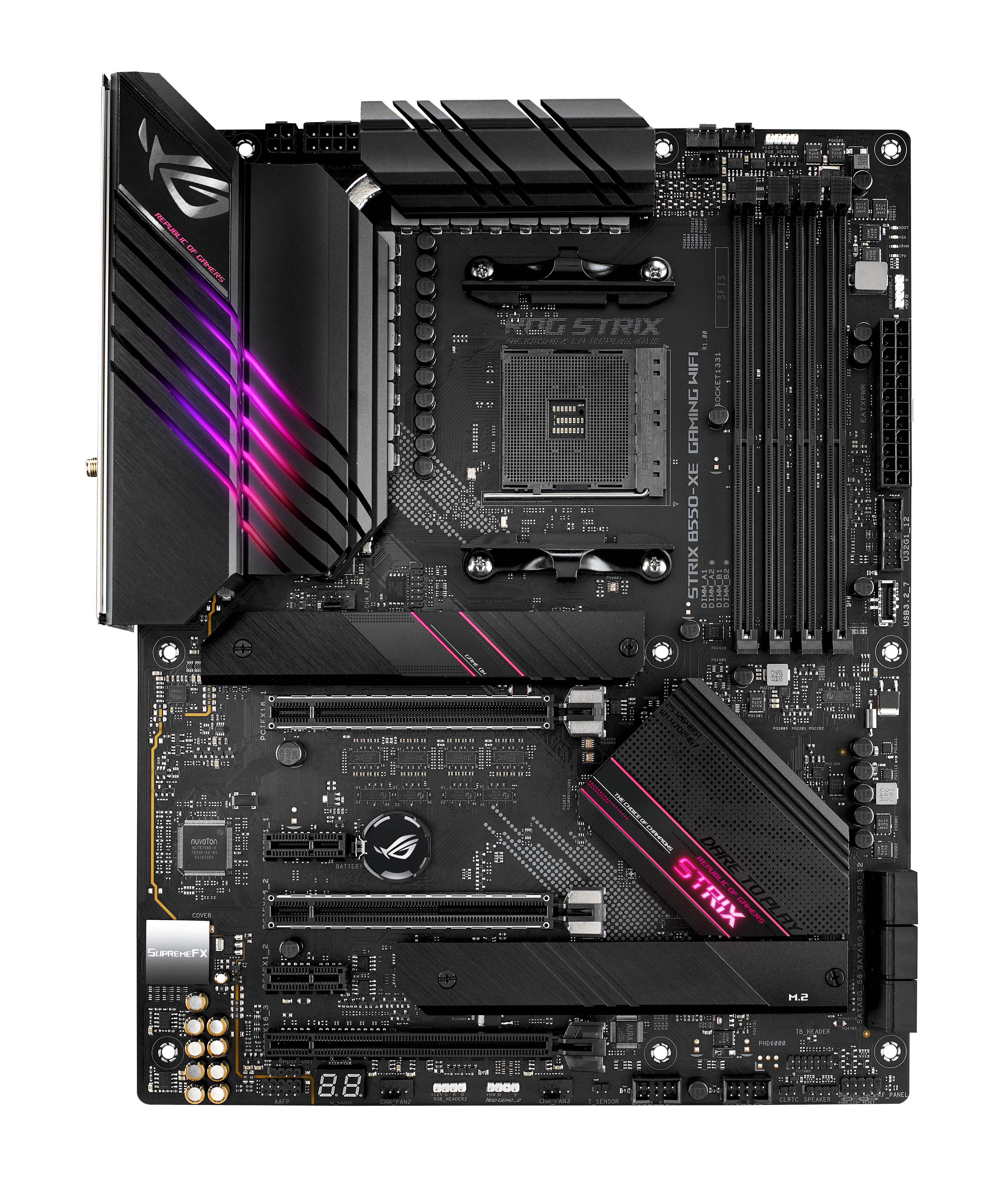 ASUS ROG STRIX B550-XE GAMING WIFI - AMD - AMD Ryzen 3,AMD Ryzen 5 - DDR4-SDRAM - DIMM - 3866,4000,4133,4266,4400,4600,4800,5100 MHz - 128 GB