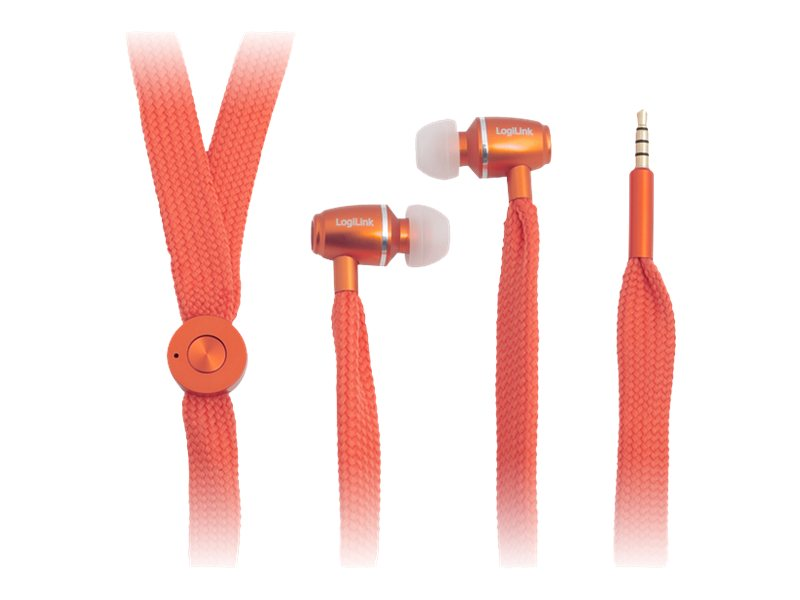 LogiLink - Stereo In-Ear Headset - kabelgebunden - orange