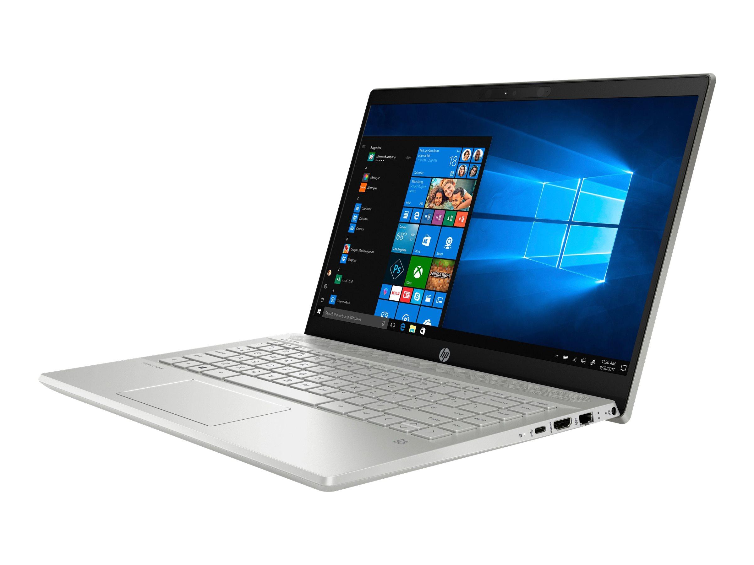 HP Pavilion 14-ce0402ng Silber Notebook 35,6 cm (14 Zoll) 1920 x 1080 Pixel 2,2 GHz Intel? Core i3 der achten Generation