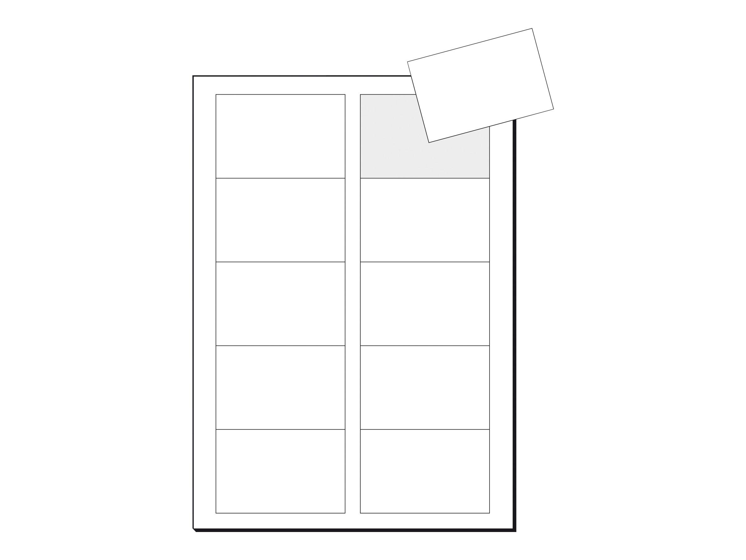 Sigel IP520 - Hochweiß - 85 x 55 mm - 210 g/m² - 100 Karte(n) (10 Bogen x 10)