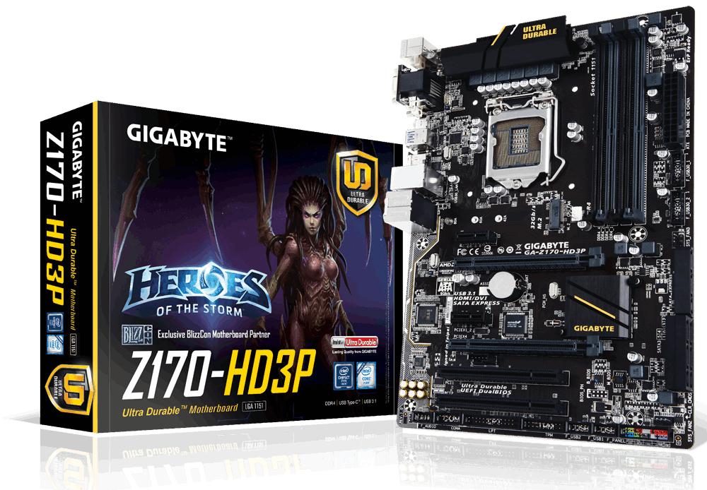 Gigabyte GA-Z170-HD3P 1.0 - Mainboard - ATX