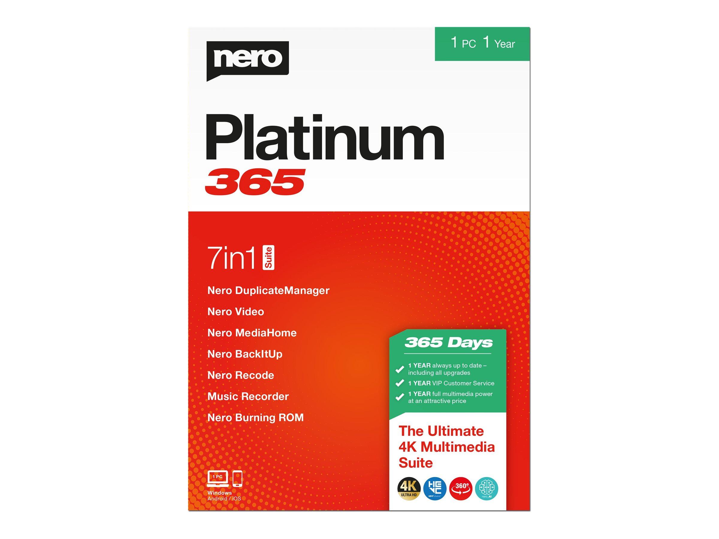Nero Platinum 365 - Box-Pack (1 Jahr) - 1 PC - CD (Mini-Box)