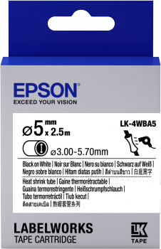 Epson LabelWorks LK-4WBA5 - Tube - Schwarz auf Weiß