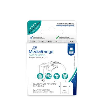 MEDIARANGE MRDY91221 - Weiß - Halb-permanent - Dymo LetraTAG LT-100H - LT-100T - 4 m - 1,2 cm - 1 Stück(e)