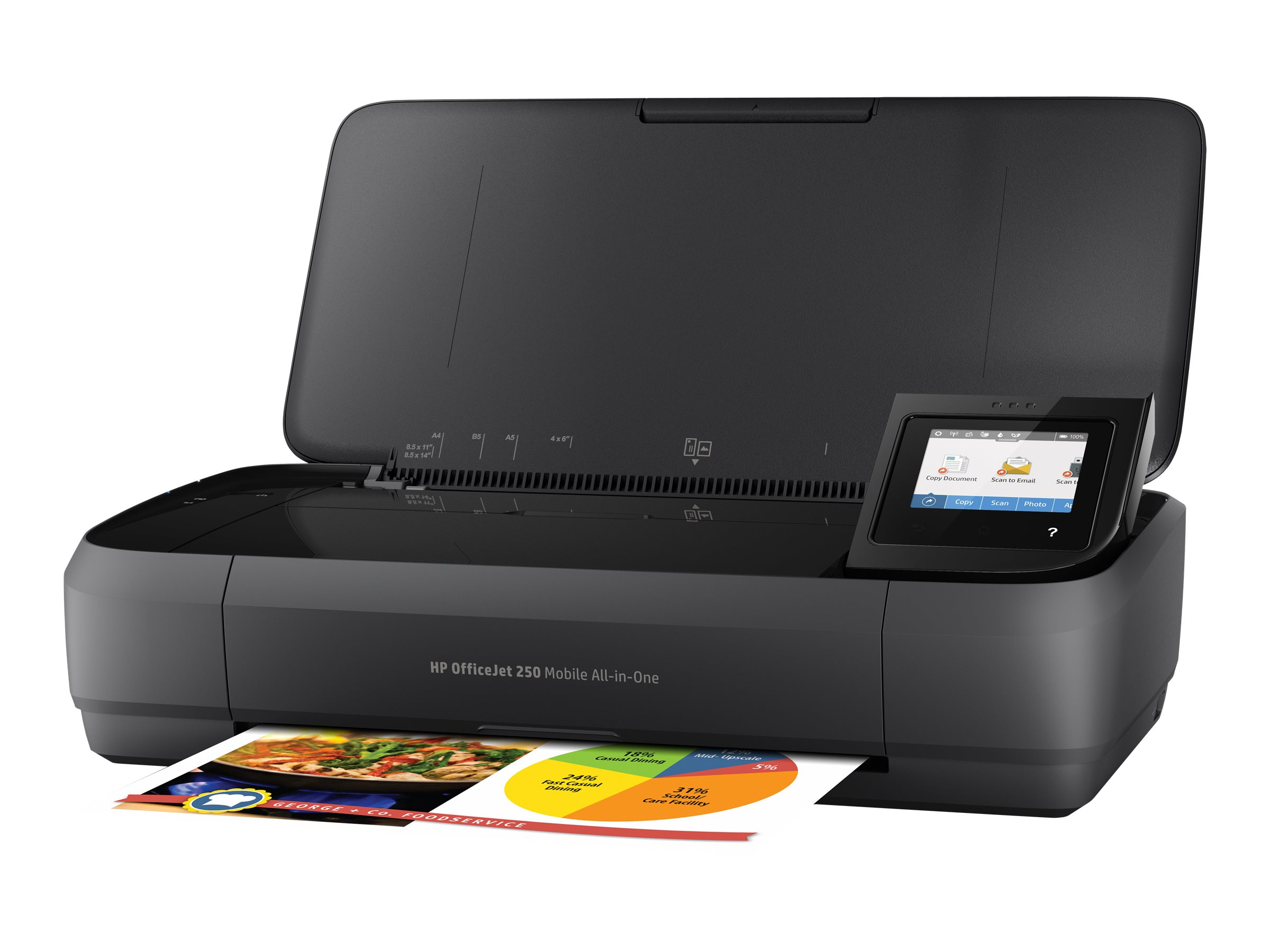 HP Officejet 250 Mobile All-in-One - Multifunktionsdrucker - Farbe - Tintenstrahl - Legal (216 x 356 mm)