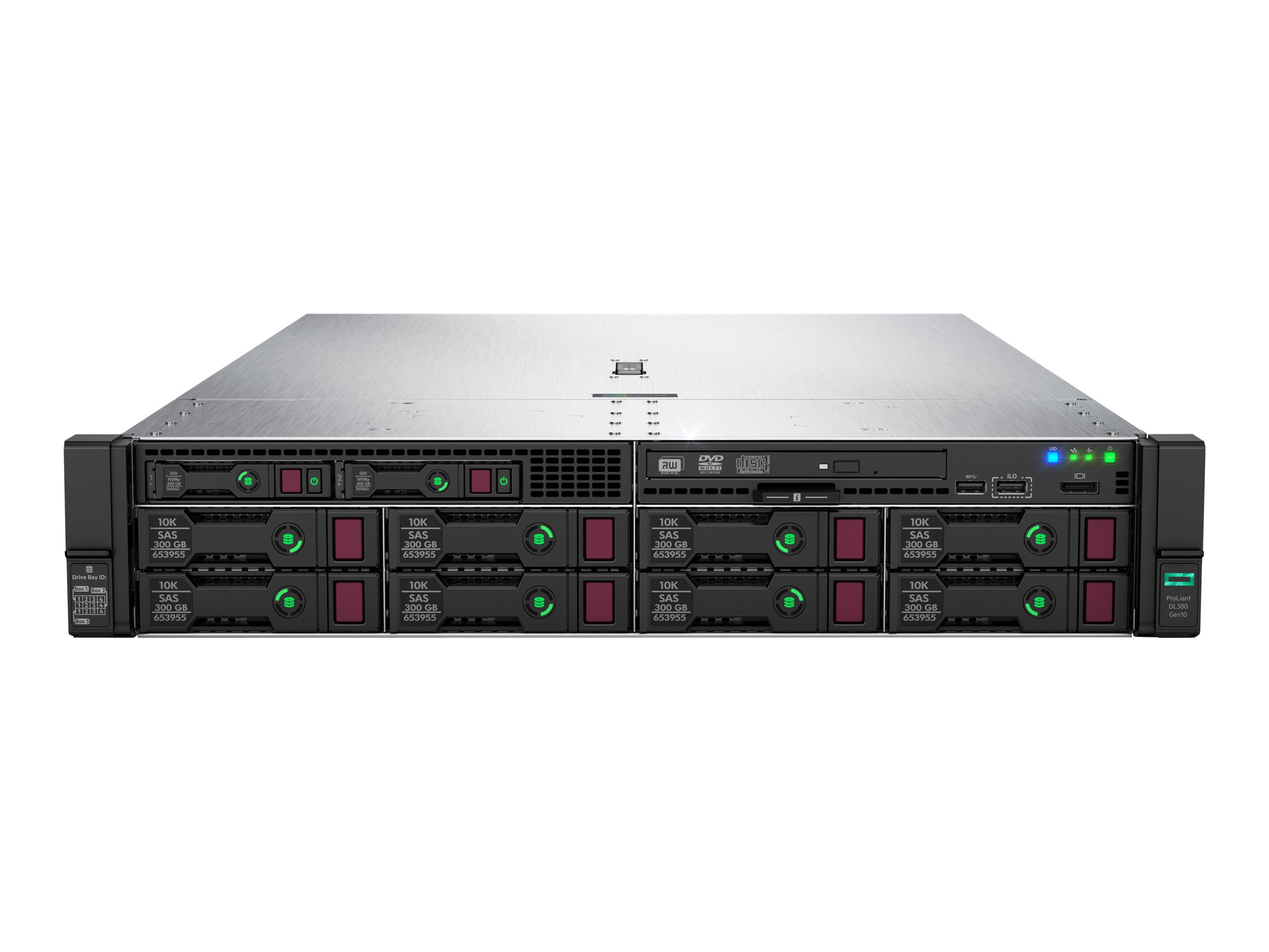"HP Enterprise ProLiant DL380 Gen10 - Server - Rack-Montage - 2U - zweiweg - 1 x Xeon Gold 5222 / 3.8 GHz - RAM 32 GB - SAS - Hot-Swap 6.4 cm (2.5"")"