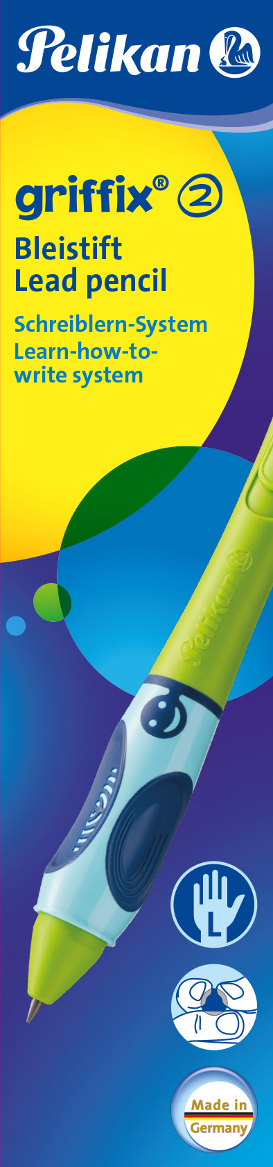 Pelikan 945028 - Griffix - Bleistift - Linkshändig - Grün - 1 Stück