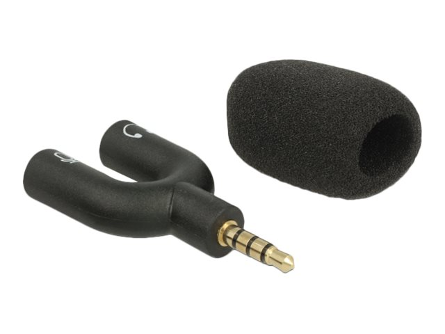 Delock Delock Condenser Microphone Uni-Directional for Smartphone / Tablet 3.5 mm 4 Pin Stereo Jack 90? Angleable