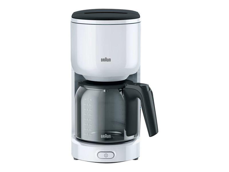 Braun PurEase KF 3120 WH - Kaffeemaschine - 10 Tassen