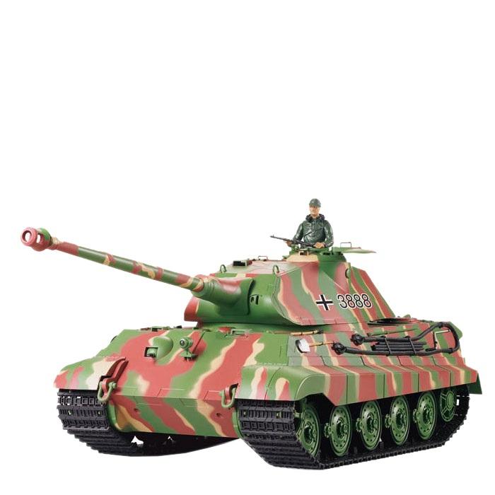 Vorschau: Amewi Tiger II - Funkgesteuerter (RC) Panzer - Elektromotor - 1:16 - Betriebsbereit (RTR) - Junge - 14 Jahr(e)