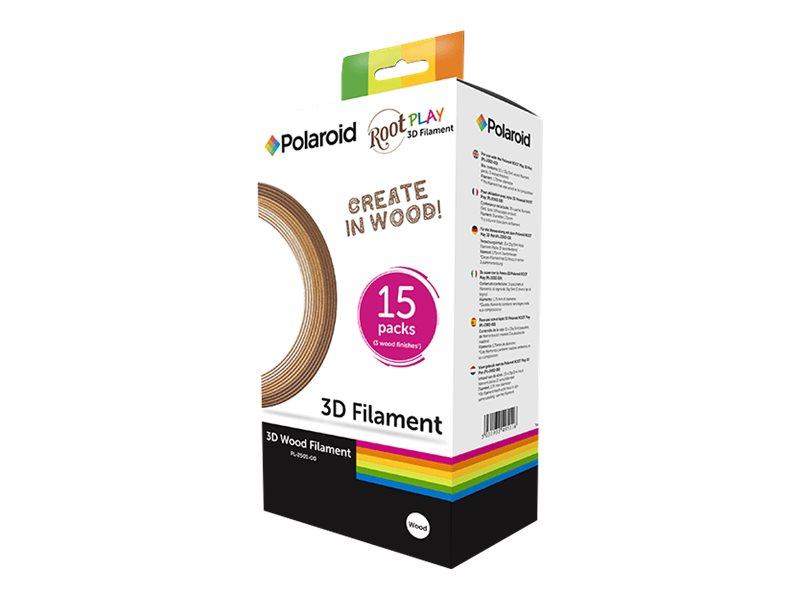 Polaroid 15er-Pack - Licht, Dark, Mischung - 15 g - 5 m - holzgefülltes Filament (3D)