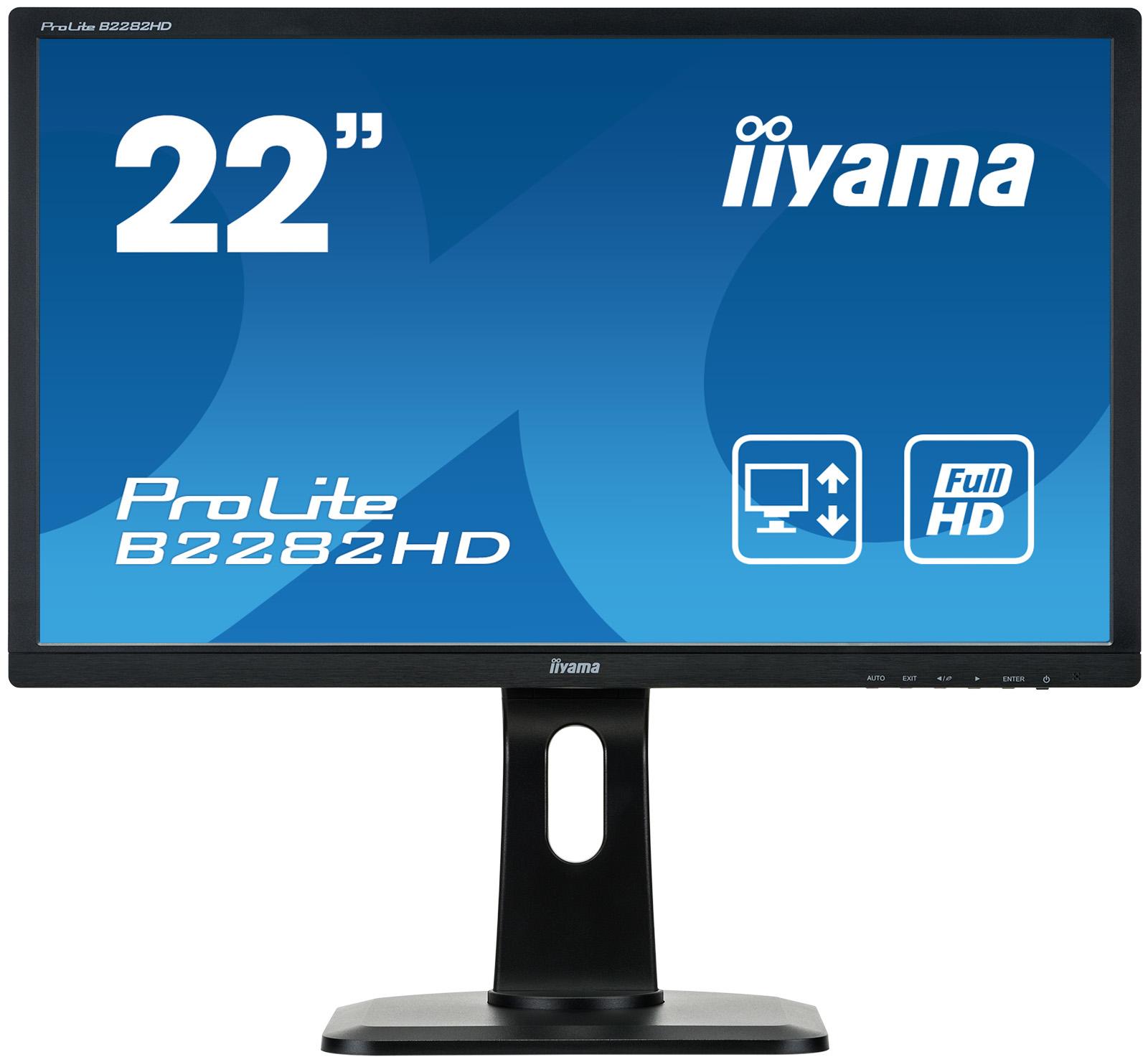 Iiyama ProLite B2282HD-B1 - LED-Monitor - 55.9 cm (22) (21.5 sichtbar)