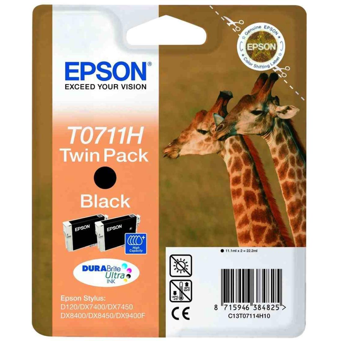 Epson T0711 Twin Pack - Druckerpatrone - High Capacity