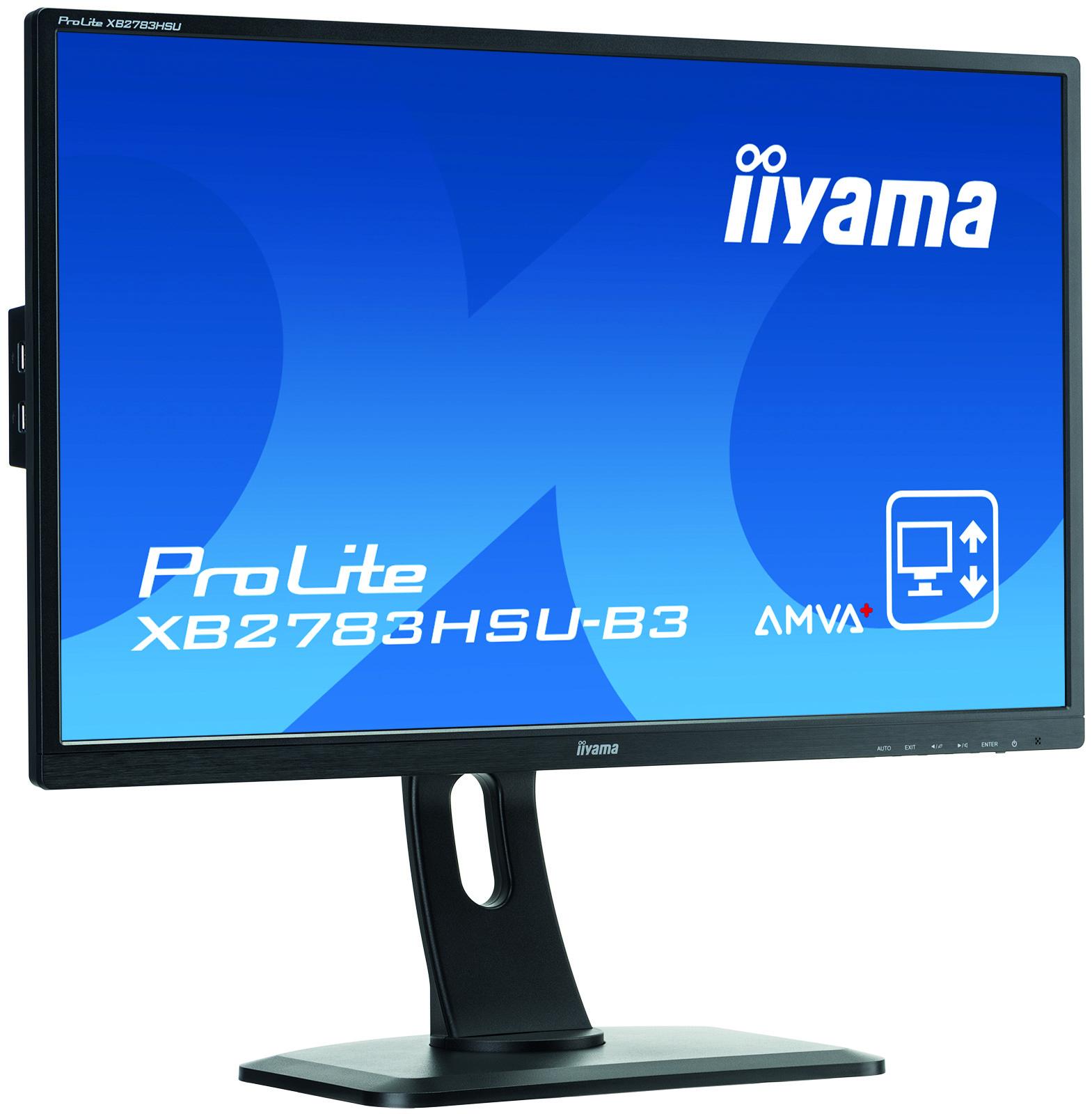 Iiyama ProLite XB2783HSU-B3 - 68,6 cm (27 Zoll) - 1920 x 1080 Pixel - Full HD - LED - 4 ms - Schwarz