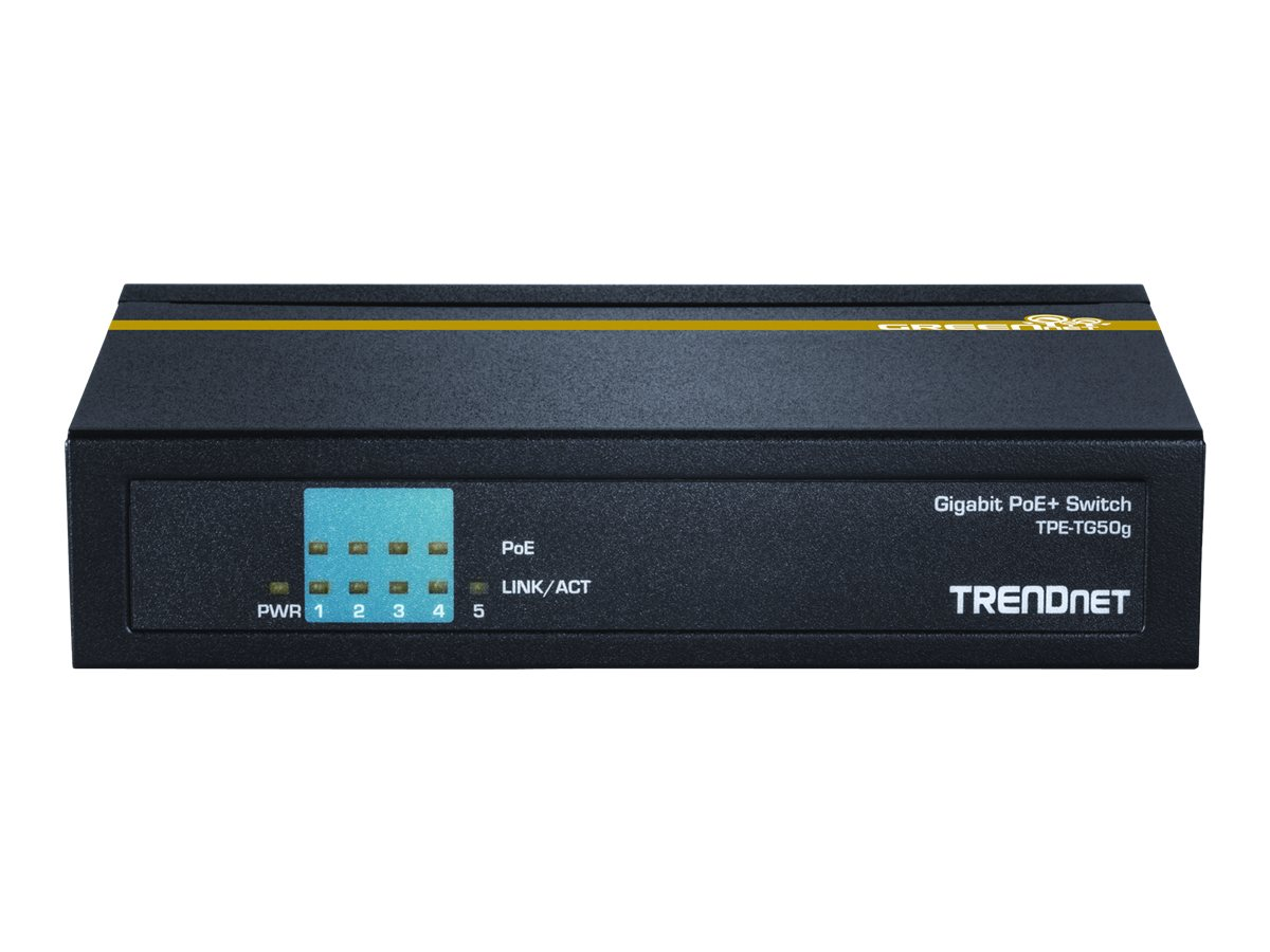 TRENDnet TPE TG50g - Switch - 4 x 10/100/1000 (PoE+)