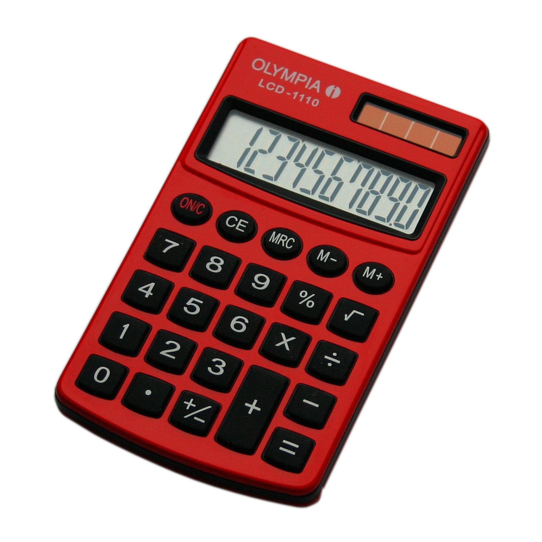 Vorschau: Olympia LCD 1110 - Tasche - Einfacher Taschenrechner - 10 Ziffern - 1 Zeilen - Rot